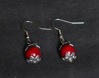 Berry Red Earrings