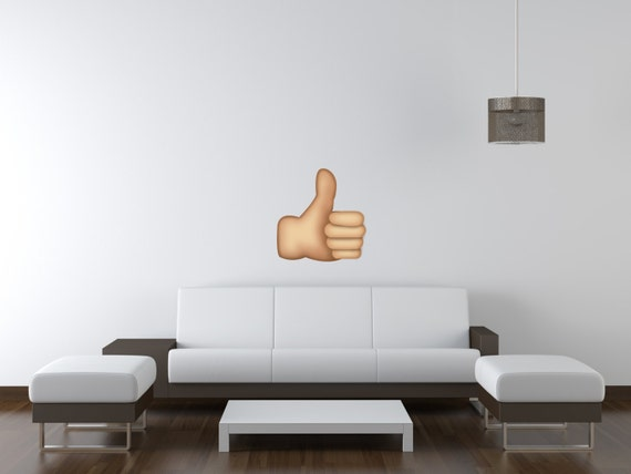 Thumbs Up Emoji Removable Kids Wall Stickers