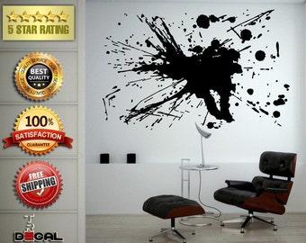 Splash Abstract Art Design Paint Drip Wall Decal Vinyl Sticker Mural Room Decor L1754