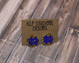 Notre Dame Earrings / Notre Dame / Football