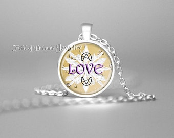EMOTO ICE CRYSTAL Love Manifestation Pendant Love Affirmation Necklace Attract Love Frequency Necklace Love Frequency Pendant Love Pendant
