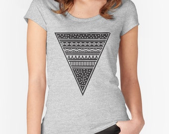 Graphic Tee -  triangle, tribal, boho, ethnic, pattern, festival, tee, t-shirt, scoop neck