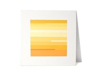 Abstract Yellow Stripe Painting Original Art by YtterbergStudio