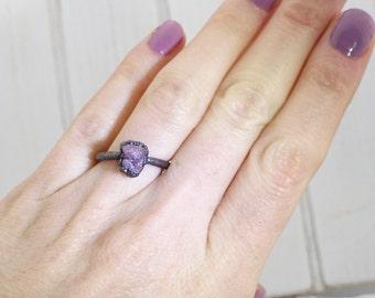 Raw ruby ring, July birthstone ring, raw crystal engagement ring, alternate engagement ring, raw gemstone ring, mineral ring, raw ring