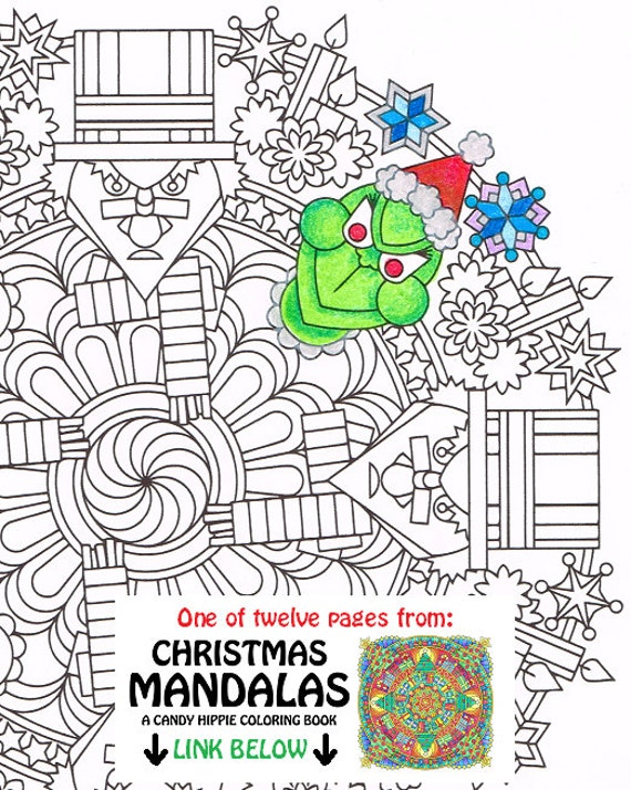 Christmas Mandala Coloring Page Humbug printable by ...