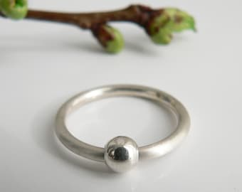 Sterling Silver ring with ball