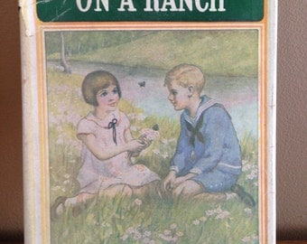 Vintage 1935 Bobbsey Twins On the Ranch Book with Dust Jacket