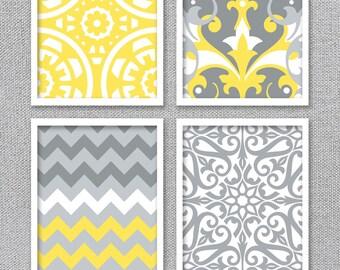 Printable Wall Art, Printable Art, Printable Art Set, Yellow and Gray Art, Digital Wall Art, Bedroom Art, INSTANT DOWNLOAD Art, Bathroom Art