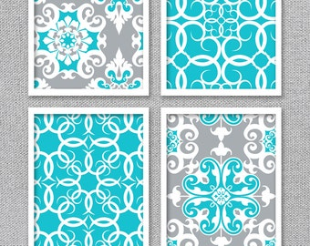 Turquoise Art, Printable Art, INSTANT DOWNLOAD, Printable Art Set, Turquoise  Wall Art Part 98