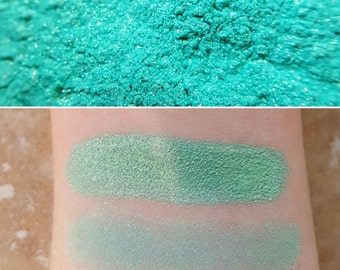 Mermaid Treasure - Blue-Green, Mineral Eyeshadow, Mineral Makeup, Pressed or Loose