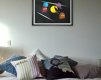 Death of Pacman - A3 Poster