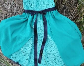 Princess Dress, Toddler Girls, Turquoise Green, Size 3, Size 4, Swing Dress, Party Dress