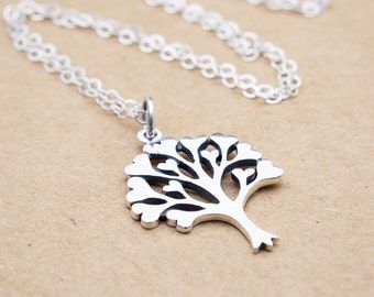 Tree of Love Necklace, Tree of Life Necklace Sterling Silver, Family Tree Necklace, Silver Tree of Life Necklace, Family Tree Pendant
