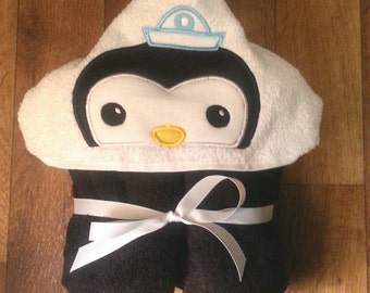 Sea Captain Hooded Towel with FREE Embroidered Name