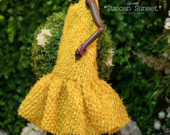 TUSCAN SUNSET - Dress for Fashion Royal FR2 & same size 12'' Fashion Doll