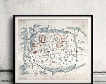 Map of Seoul - South Korea - 1800 - SKU 0303