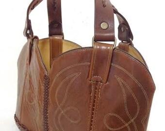 Handbag Brown cowboy boots
