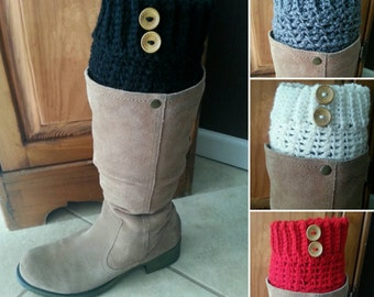 Boot Cuffs, Made-to-Order Crochet