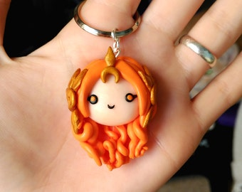 Leona Necklace or Keychain League of Legends  Gamer Kawaii Geek videogames
