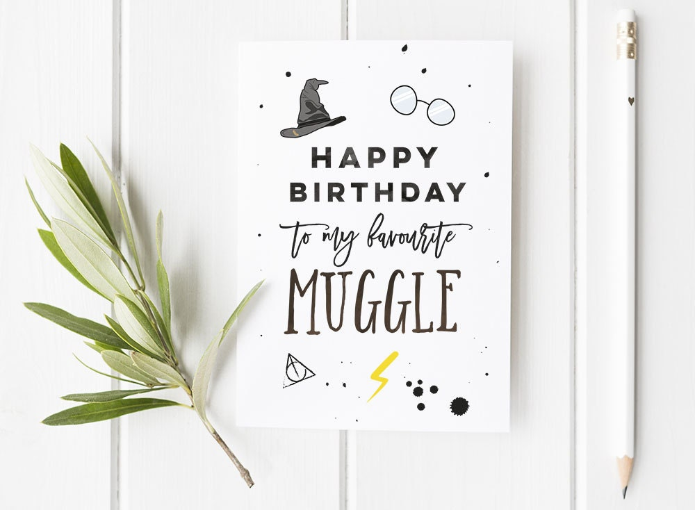 Harry Potter Inspired Birthday Card Harry Potter Wizard