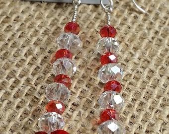 Swarovski, crystal, beads, sterling silver, earrings.