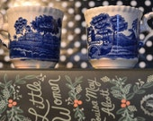 1 Demitasse Cups SPODE tower pattern, blue and white