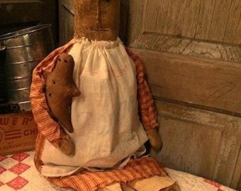 Primitive doll Sugar sack Gingerbread Kitchen Rustic Faap Haha team Hafair team
