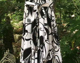 Mod black and white vintage 1960's palazzo jumpsuit! Great bold print