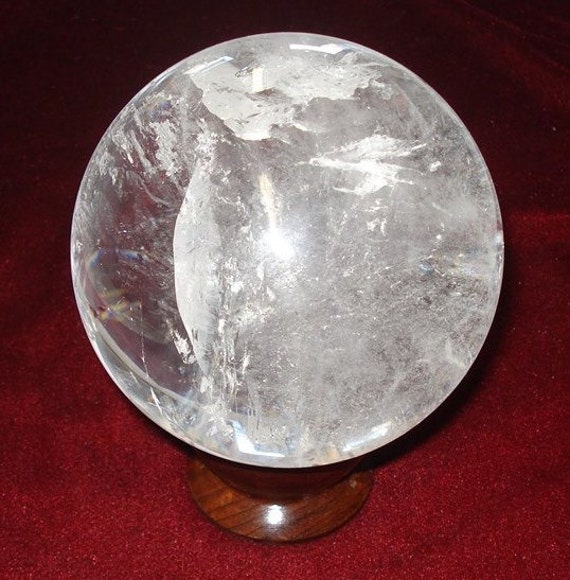 Clear Quartz Crystal Sphere 95mm Ball Large High QualityQuartz Crystal Sphere