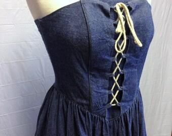 Jean Western Dress