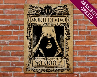 PRINTABLE Assassin's Creed Poster Morti di Vivo - Assassins Creed Art Assassins Creed Print Assassins Creed Deco Assassins Creed Artwork