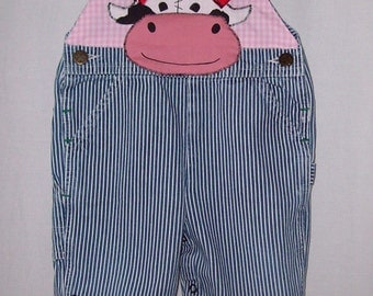 Custom Boutique Little Cowgirls & Cowboys overalls see sizes below