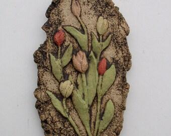 Tulips - Ceramic Wall Plaque