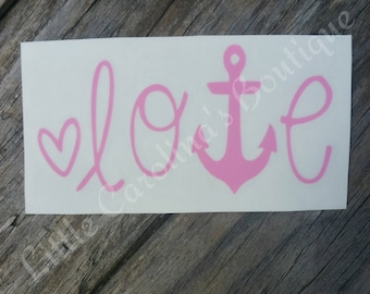 Love Anchor Decal