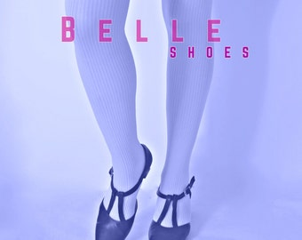 Belle Shoes, Double T strap shoes 60s vtg repro from uk3 to 7 uk