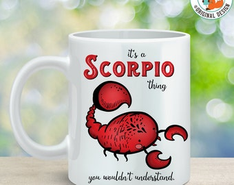 Coffee Mug Scorpio Astrological Sign Coffee Cup - Great Birthday Gift - Horoscope Mug