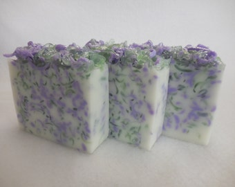 Lavender Sage SOAP LOAF - Lavender Soap - Sage Soap - Rustic Wedding Favor - Baby Shower Party Favor - Shea Butter Soap - Lavender Soap Bulk