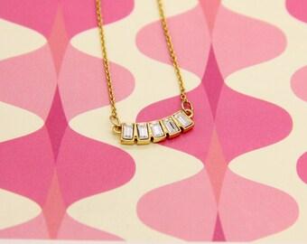 Tiny Birthstone Necklace, Tiny Gold Necklace , April Birthstone Necklace, Swarovski Crystal Necklacd, Tiny Crystal Necklace, Simple, Chic