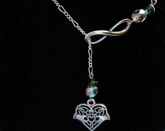 Claddagh Infinity Necklace
