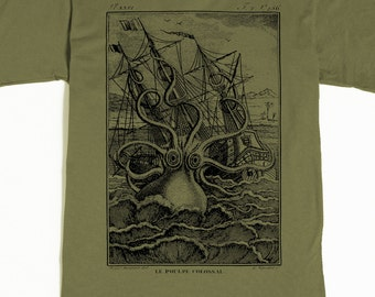 Octopus Men's Shirt - Men's Octopus T-shirt - Kraken Tshirt - Pirate Graphic tee