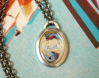 Swallow Tattoo Necklace