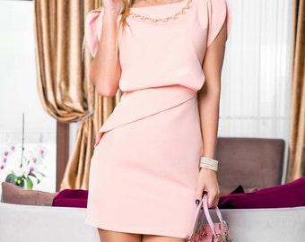 Peach dress, bridesmaid dress, formal dress, casual dress, party dress, evening dress