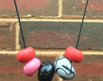 Raspberry Sorbet // Polymer Clay Necklace