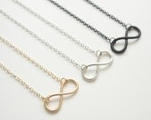 Gold Infinity dainty necklace
