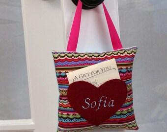 Heart Message Pillow personalized door hanger
