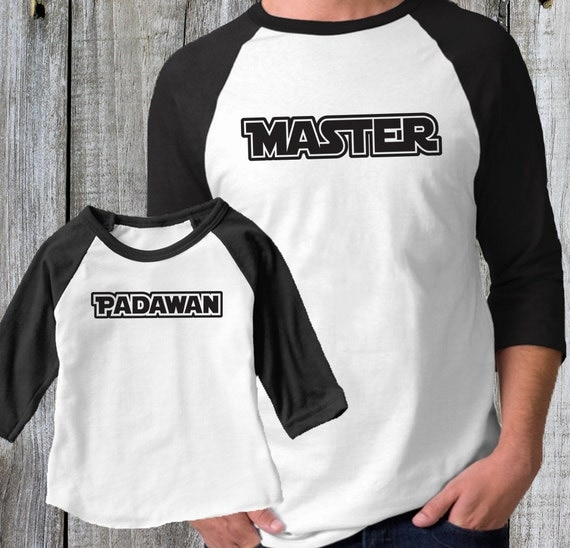 Father's Day Shirt. Star Wars Dad and Baby Set, Master and Padawan T-Shirt Combo, Matching Dad and Baby Shirts