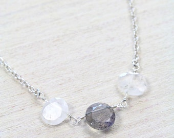 Moon-lab Trio Necklace,  simply delicate perfect for everyday wear
