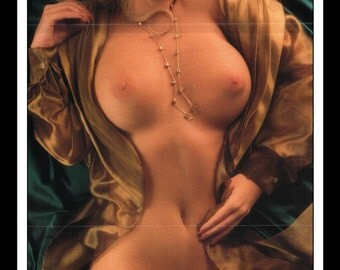 "Mature Playboy January 1995 : Playmate Centerfold Melissa Deanne Holliday Gatefold 3 Page Spread Photo Wall Art Decor 11"" x 23"""