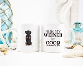 Weiner Dog Luck | Funny Dog Coffee Mug | Snarky Pet Mug | Illustrated Dog Coffee Cup | Unique Gifts for Dog Lovers