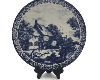Delft Blue/ Blauw De Herfst Plate Made in Holland